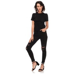 ZARA Trafaluc stretch distressed jeans black